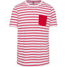 Striped White / Red